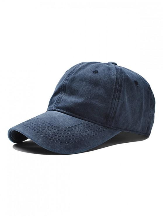 ladies Vintage Adjustable Baseball Cap - BLUE