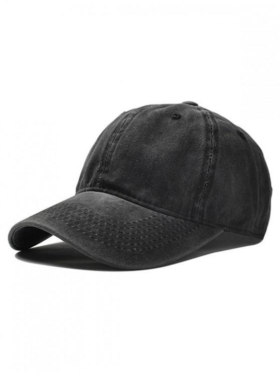 women Vintage Adjustable Baseball Cap - BLACK
