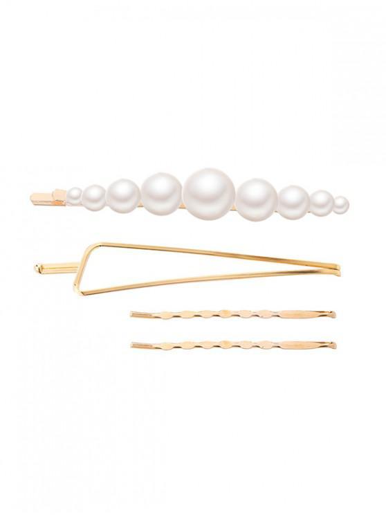 online Faux Pearl Geometric Hairpin Set - MULTI-C