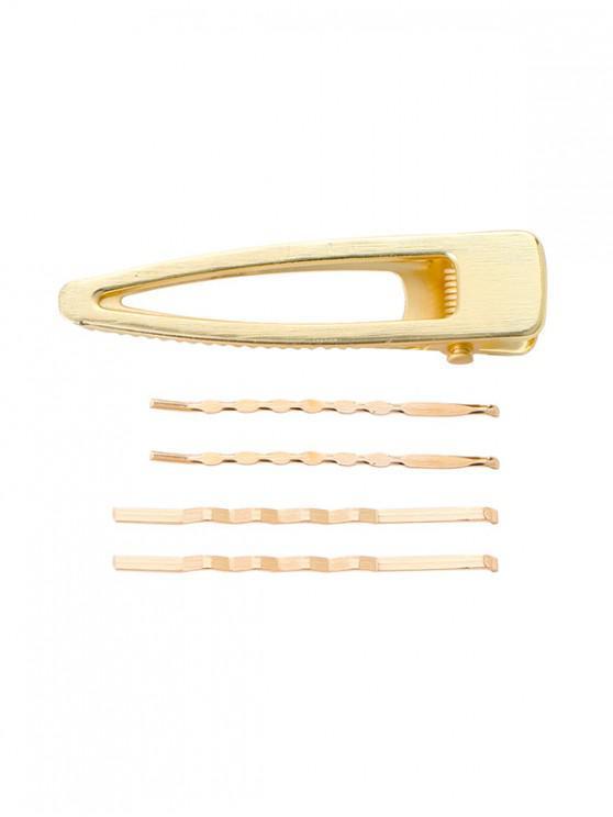 trendy Faux Pearl Geometric Hairpin Set - MULTI-E