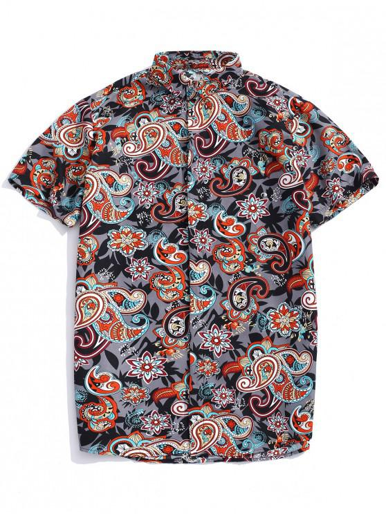 Böhmisches Hemd mit Paisleydruck - Multi L