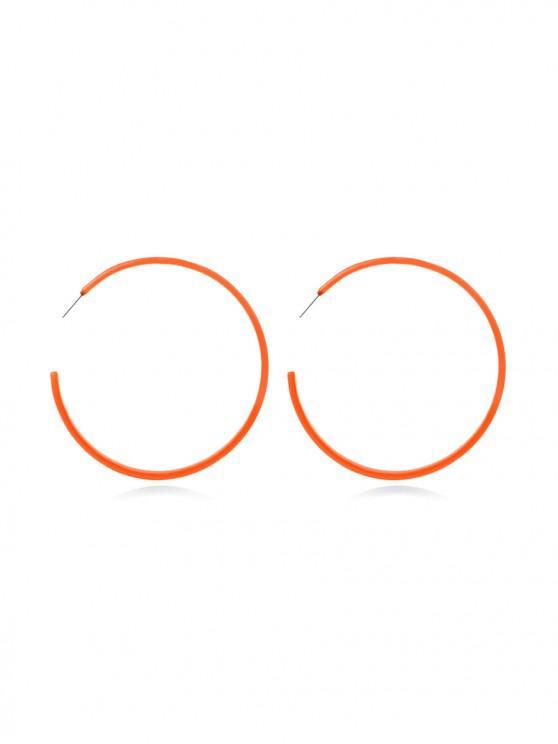 new Big Circle Neon Stud Earrings - BEE YELLOW