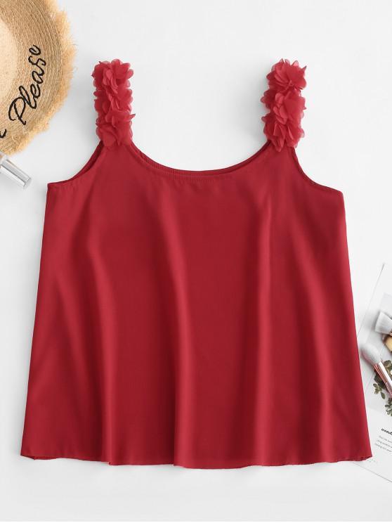 lady Petal Tank Top - RED WINE L