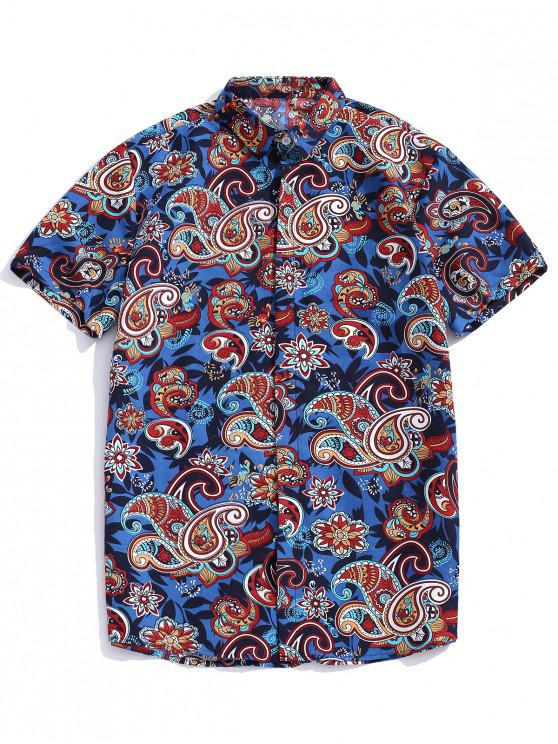 latest Paisley Print Bohemian Shirt - MULTI-A L