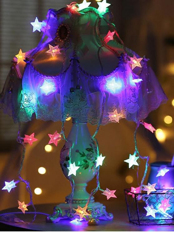 Luces de cadena LED de forma de estrella USB de 5 metros - Transparente Multicolor