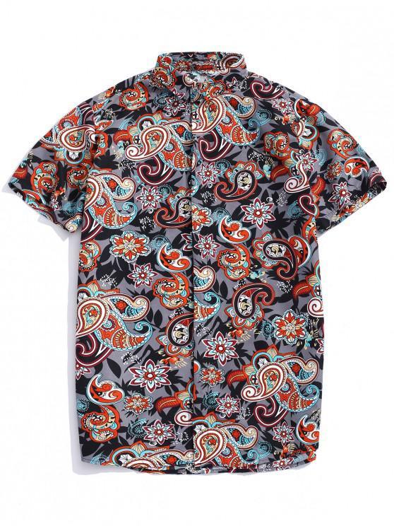 outfit Paisley Print Bohemian Shirt - MULTI L