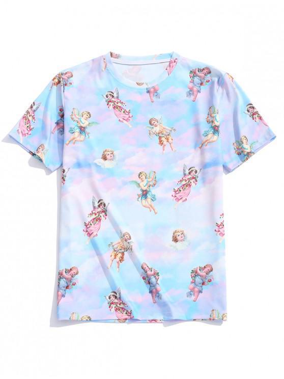T-shirt Casual com Impressão de anjo - Multi XL