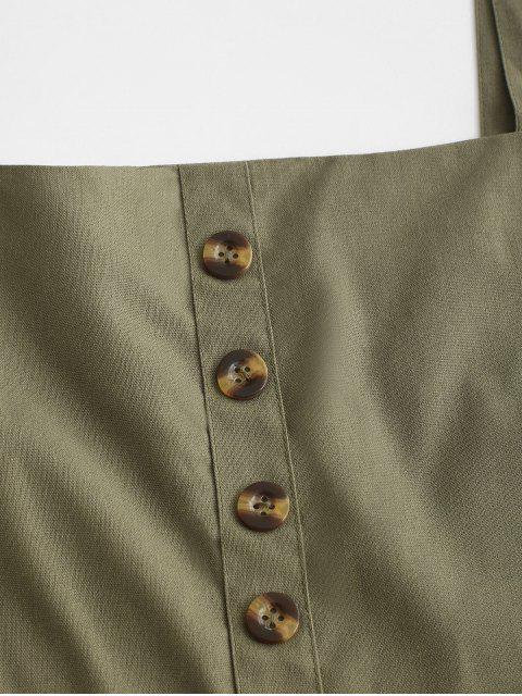 new Wide Straps Button Romper - ARMY GREEN S Mobile