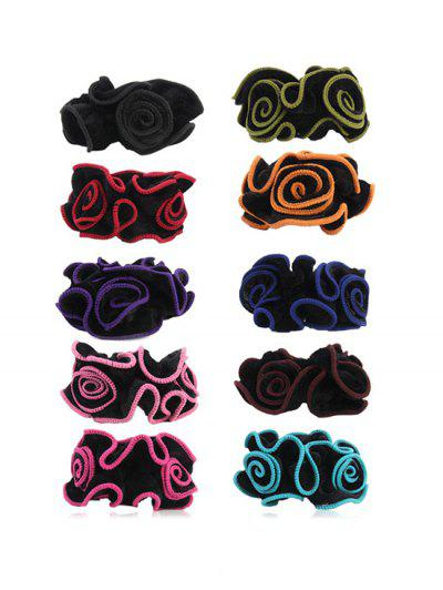 Image of 10Pcs Wavy Edge Velvet Scrunchies Set