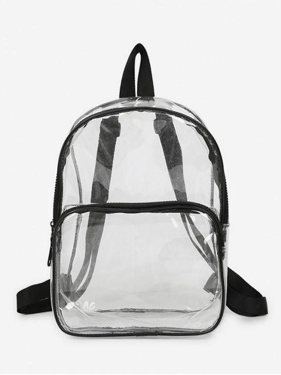 chic Plastic Transparent College Backpack - BLACK