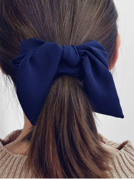 lady Solid Color Bow Hair Scrunchies - CADETBLUE