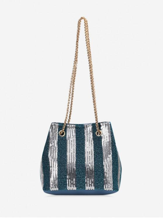 outfits Chic Sequins Decoration Crossbody Bag - SILK BLUE