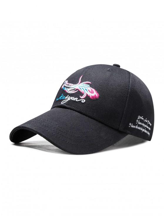 buy Adjustable Phoenix Embroidered Baseball Cap - BLACK