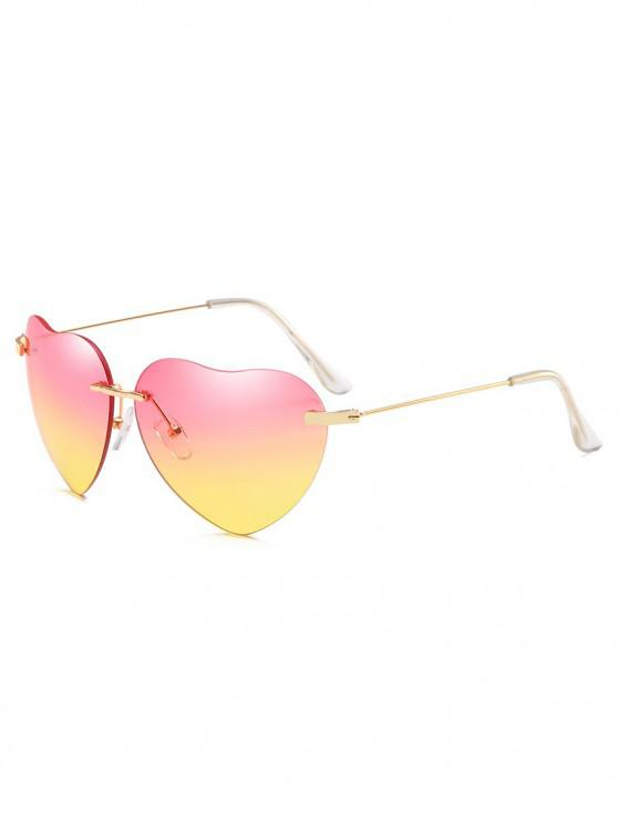 shops Novelty Heart Shape Design Sunglasses - CORN YELLOW