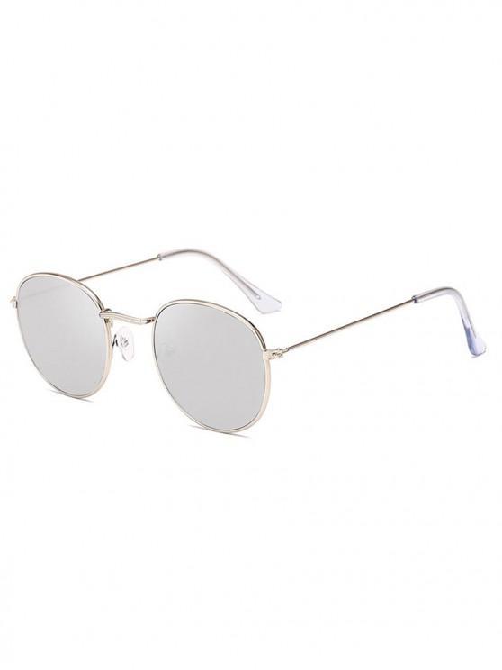 trendy Retro Anti UV Round Sunglasses - SILVER