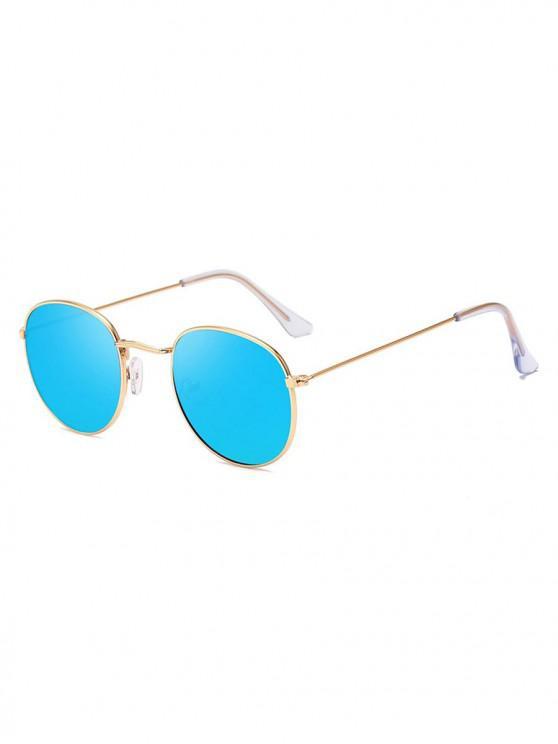 unique Retro Anti UV Round Sunglasses - SILK BLUE
