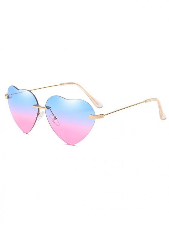 womens Novelty Heart Shape Design Sunglasses - POWDER BLUE