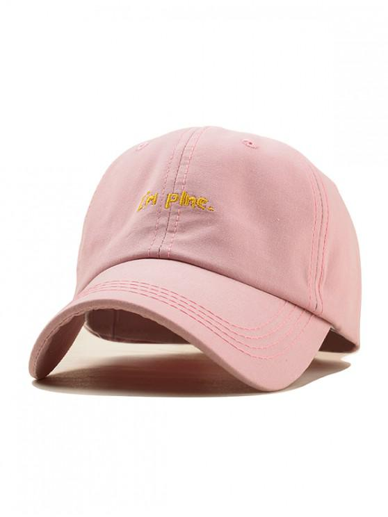 women's Simple Embroidery Small Letter Baseball Cap - PINK