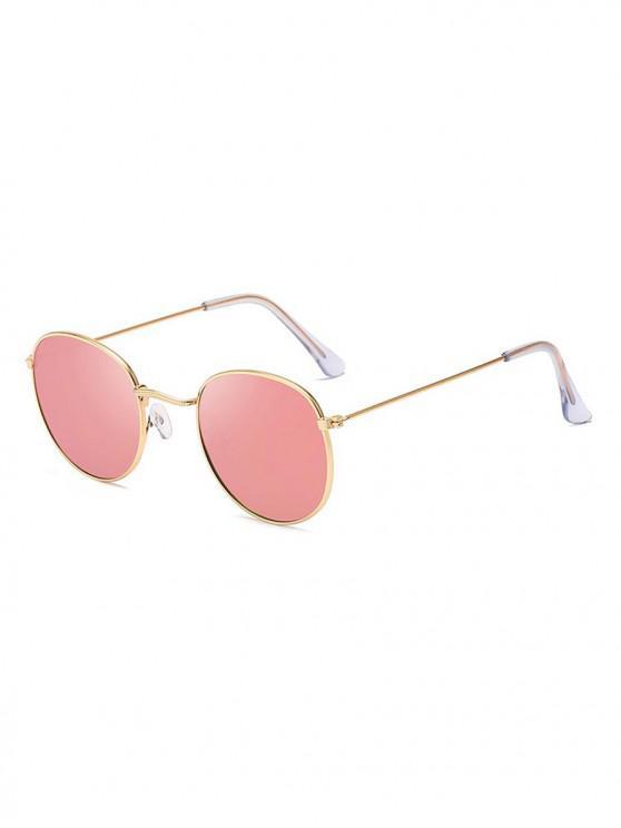 ladies Retro Anti UV Round Sunglasses - PINK