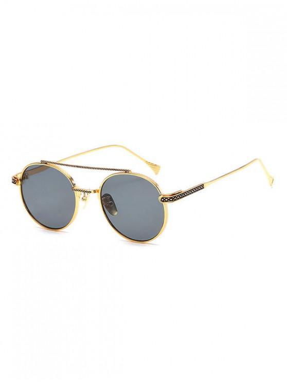 outfits Geometric Round Anti UV400 Sunglasses - ASH GRAY
