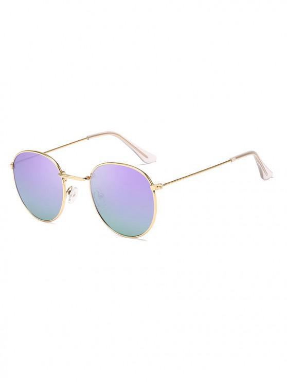 shop Retro Anti UV Round Sunglasses - PURPLE MIMOSA