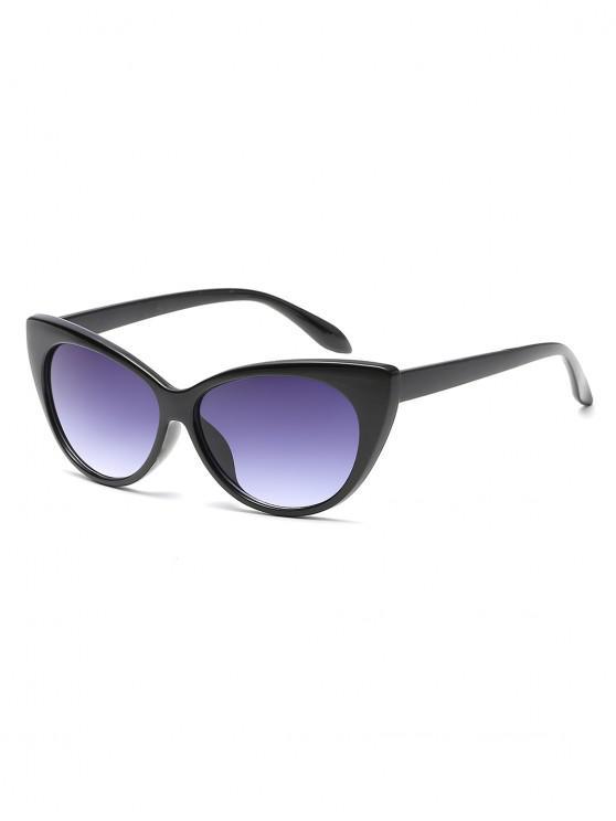 trendy Anti UV Catty Eye Sunglasses - CARBON GRAY