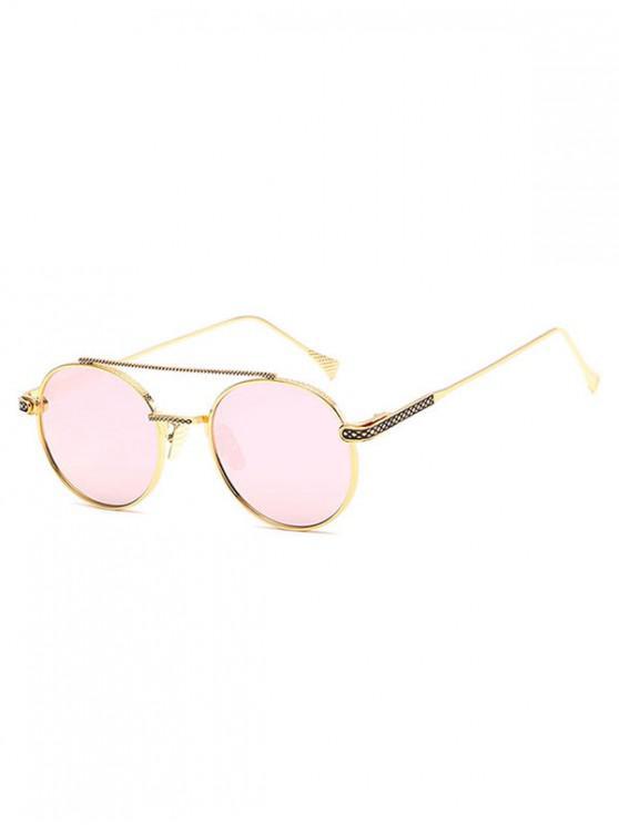fashion Geometric Round Anti UV400 Sunglasses - PINK