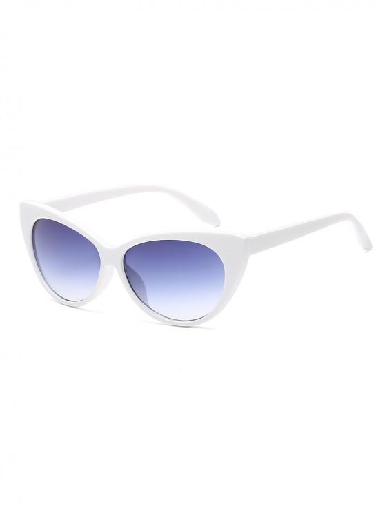 affordable Anti UV Catty Eye Sunglasses - WHITE