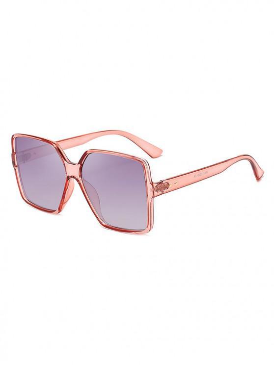 new Driver Oversized Polarized Square Sunglasses - LIGHT PINK