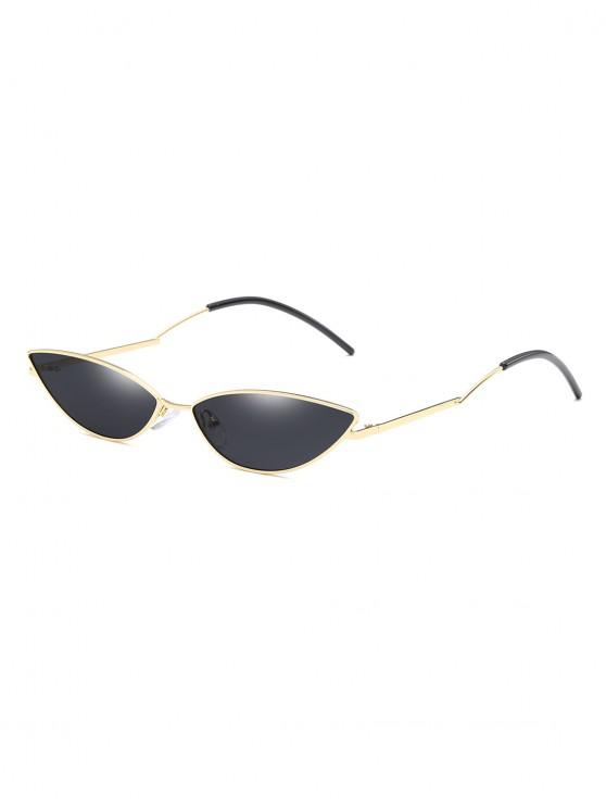shops Narrow Catty Eye Polarized Sunglasses - BLACK EEL