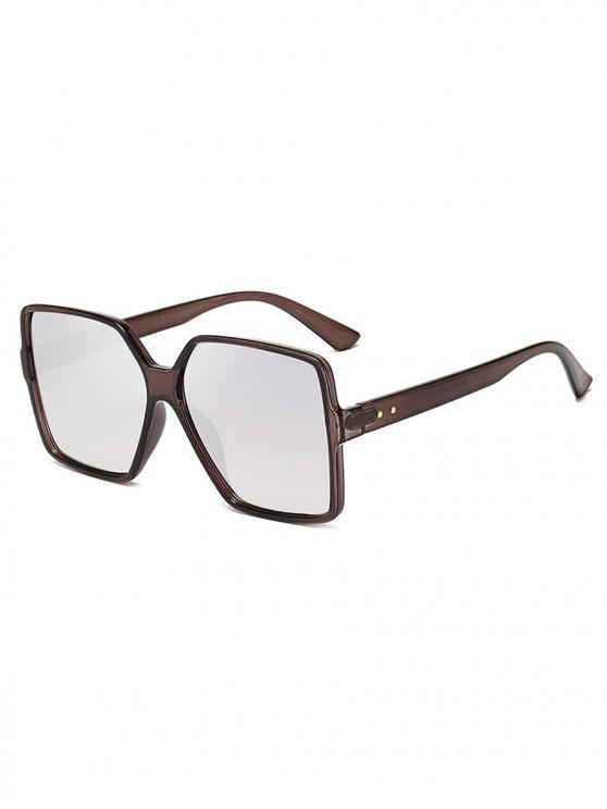 fashion Driver Oversized Polarized Square Sunglasses - PLATINUM