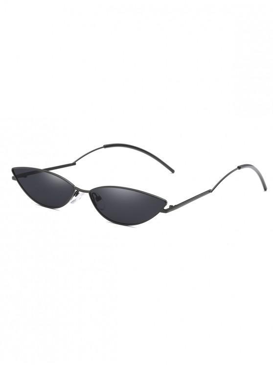 chic Narrow Catty Eye Polarized Sunglasses - BLACK