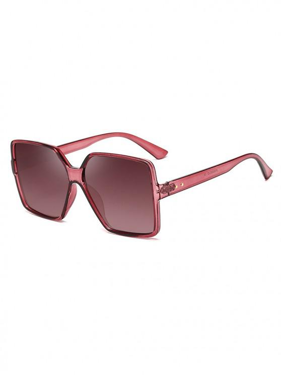 buy Driver Oversized Polarized Square Sunglasses - RED WINE