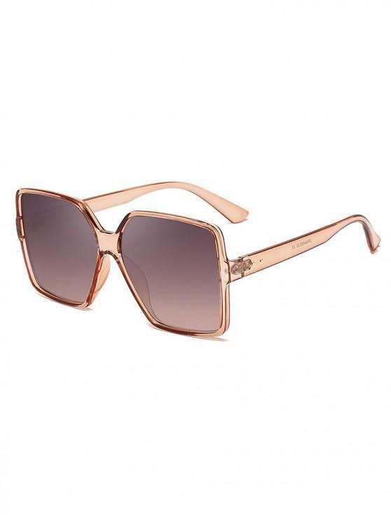 women's Driver Oversized Polarized Square Sunglasses - CHAMPAGNE