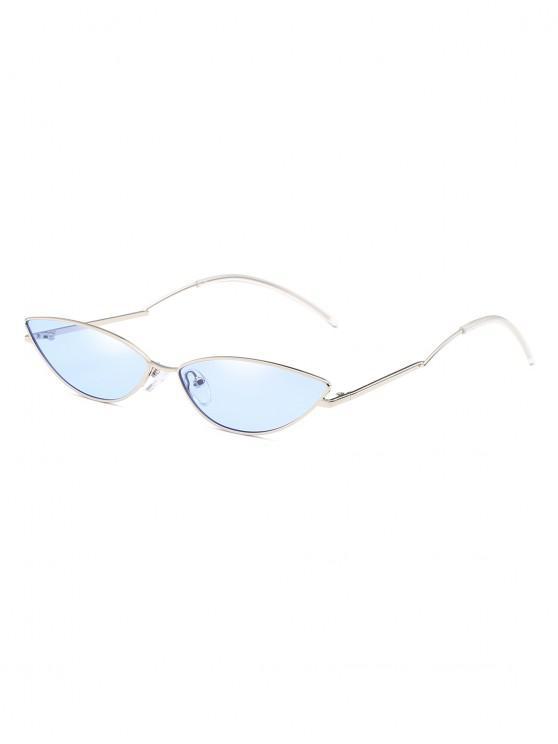 ladies Narrow Catty Eye Polarized Sunglasses - SKY BLUE