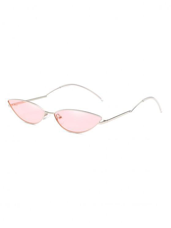 lady Narrow Catty Eye Polarized Sunglasses - PINK