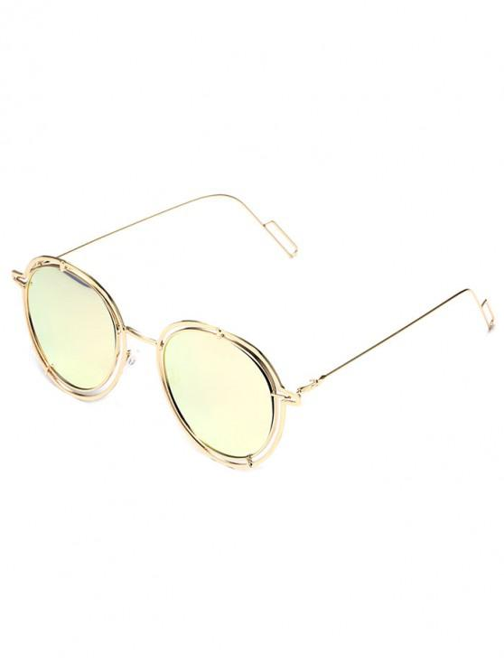 outfit Metal Driving Round Sunglasses - LIGHT PINK