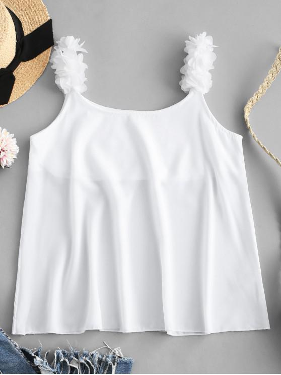 Blütenblatt-Tank-Top - Weiß S