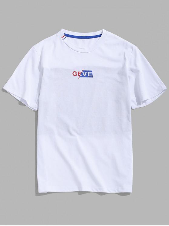 T-shirt à manches courtes - Blanc L