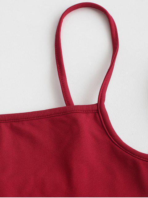 Robe Deux Pièces en Laine - Rouge Vineux XL Mobile