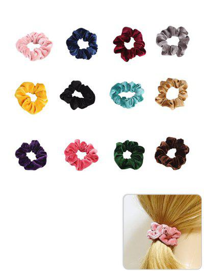Imagem de 12Pcs Elastic Fleece Scrunchies Set