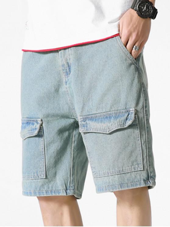 Mehrfach-Reißverschluss-Jeanshose mit Reißverschluss - Jeans Blau M
