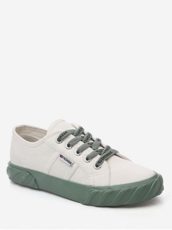 shop Leisure Style Letter Design Sport Shoes - WHITE EU 36