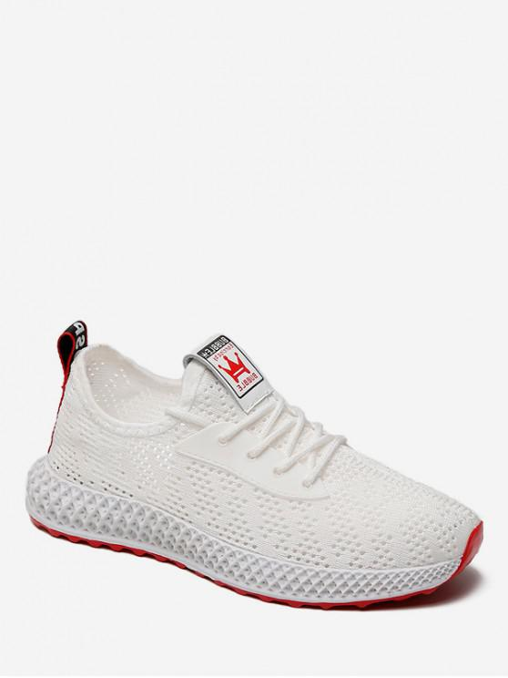 sale Casual Breathable Mesh Sports Shoes - WHITE EU 36
