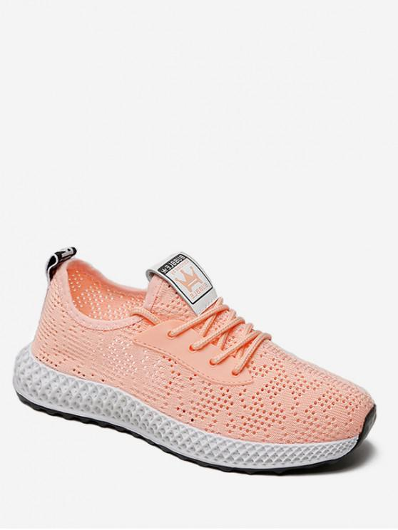 fancy Casual Breathable Mesh Sports Shoes - PINK EU 35