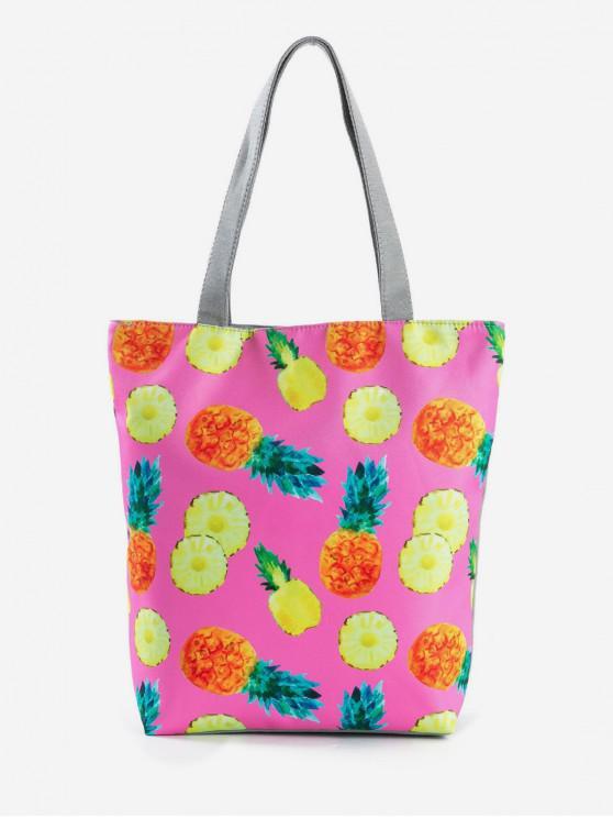 buy Fruit Printed Canvas Tote Bag - NEON PINK