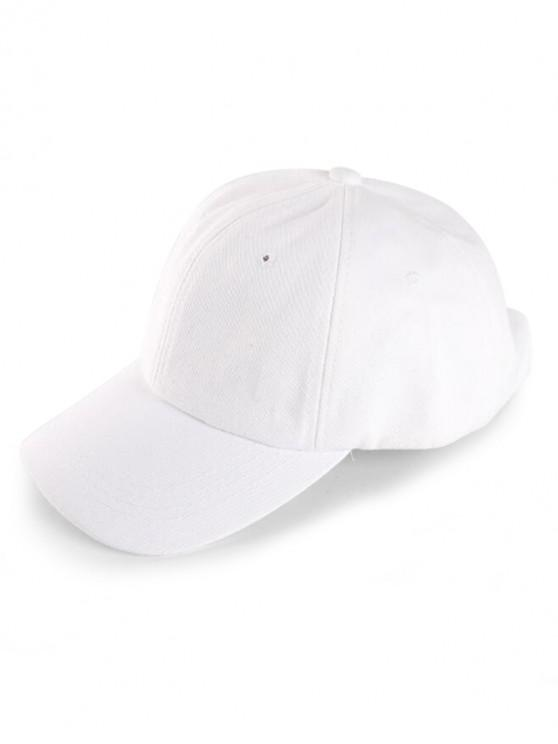 outfit Small Hole Sport Baseball Cap - WHITE