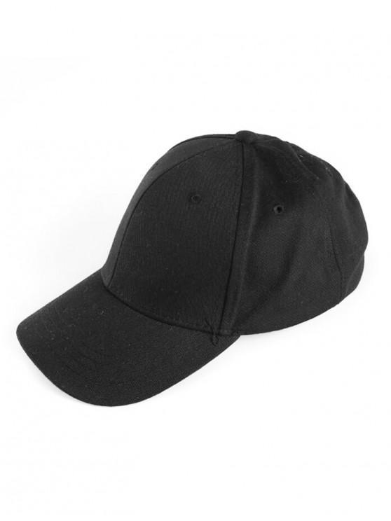 women Small Hole Sport Baseball Cap - BLACK