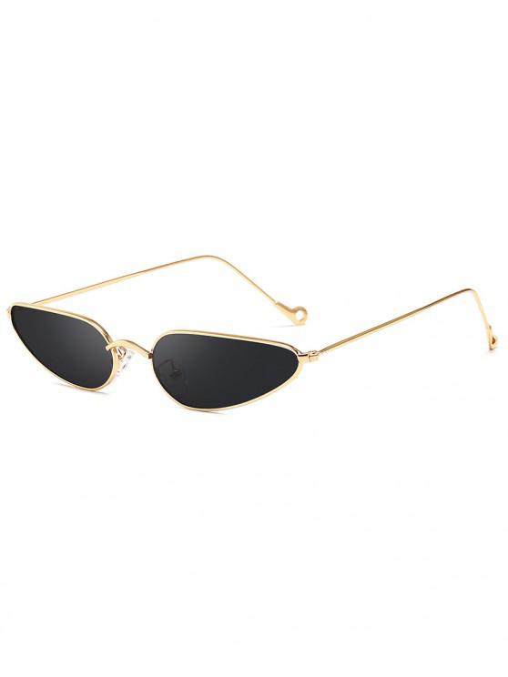 outfit Retro Stylish Narrow Frame Sunglasses - DARK SLATE GREY