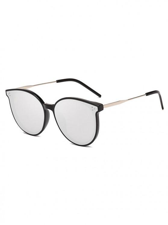 fancy Unisex Simple Oversize Sunglasses - SILVER